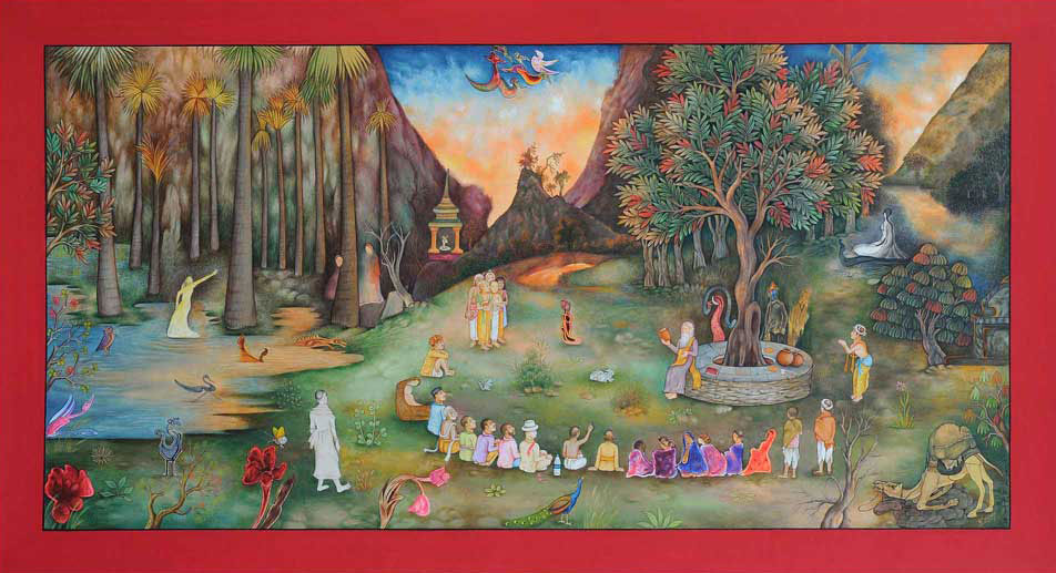 A Magic Circle (A Dream of Tagore)-Waswo